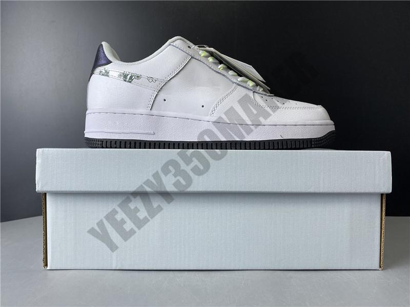 2020 Shoes baixo bloco Daisy Skate branco 1 1S Homens Mulheres Moda Homem confortável Outdoor Womans instrutor Sneakers CW5859-100
