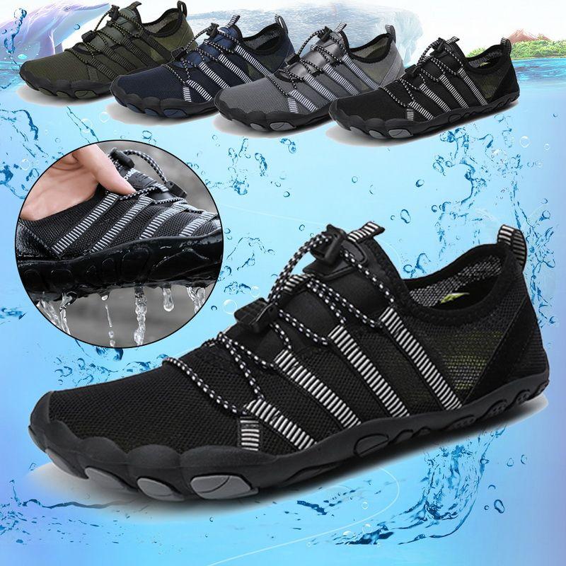 Hommes Femmes Durable Chaussures de sport en plein air Escalade Trekking Chaussures de sport Chaussures unisexe nonslip plat Wading Chaussures de sport d'eau 2020
