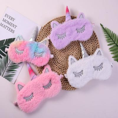 Unicorn Sleep Masks Adults Rest Plush Eye Mask Shade Cover Travel Relax Accessories Women Vision Care Tools