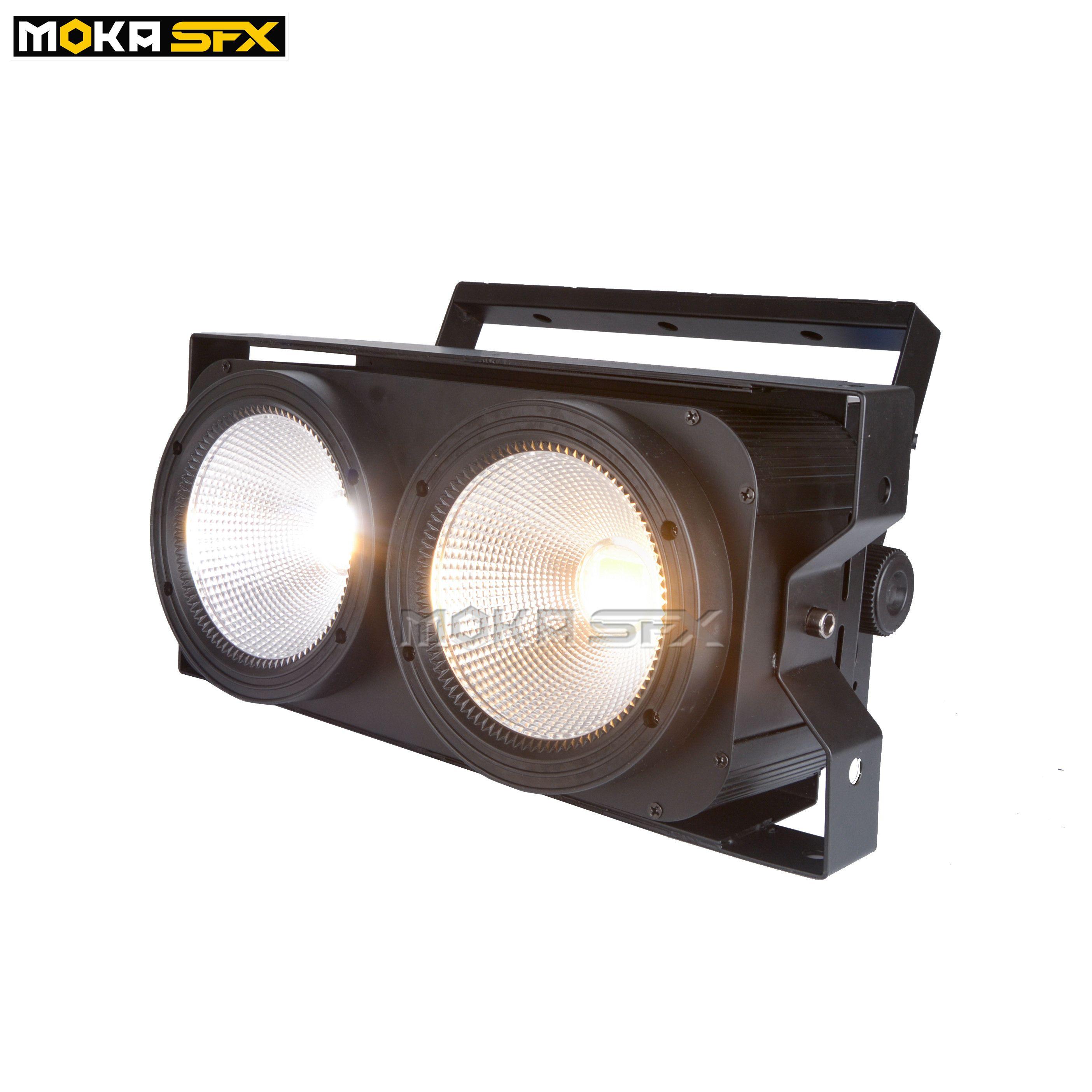 2 * 100W الصمام COB ضوء DMX المرحلة إضاءة تأثير الصمام الخفيفة الاسمية كول الأبيض / الدافئة الابيض / 2IN1 الغمامة الجمهور