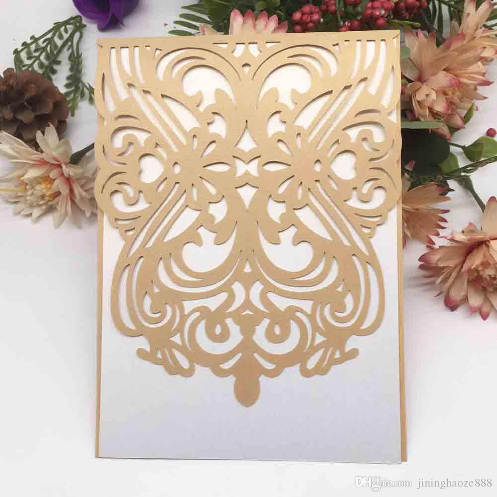 Luxury Wedding Invitation Cards Blessing Gifts Invitation Cards Decoration  With Exquisite Lace Anything Party Supplies Funny Wedding Invitations  Invitation Paper From Jininghaoze888, $29.3| DHgate.Com