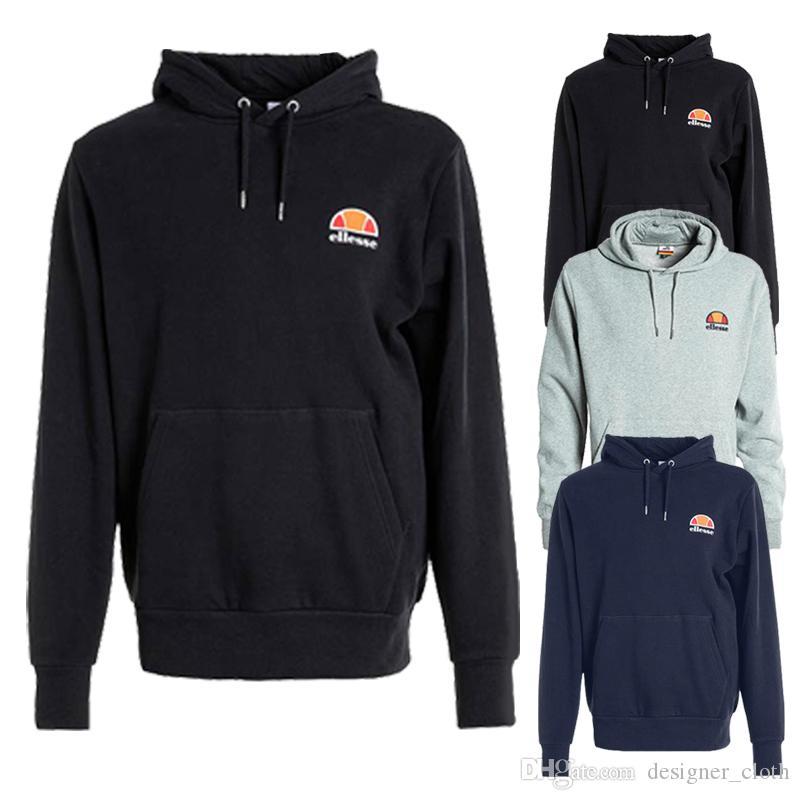 Hombre del diseñador sudaderas Negro Armada gris 100% algodón de la manera impresa letra de deportes de los hombres diseñador camiseta de manga larga con capucha S-3XL