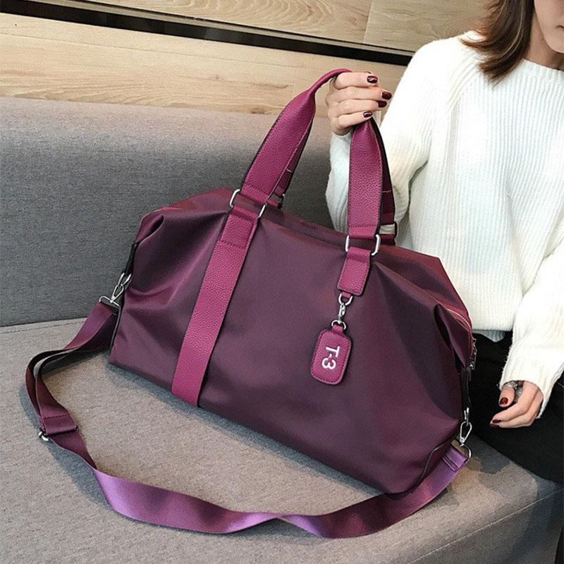 Mulheres Treinamento de armazenamento ajustável Strap Dry Wet Separado impermeável ao ar livre viagens bolsa de nylon Sports Yoga Gym Bag Duffel Bag