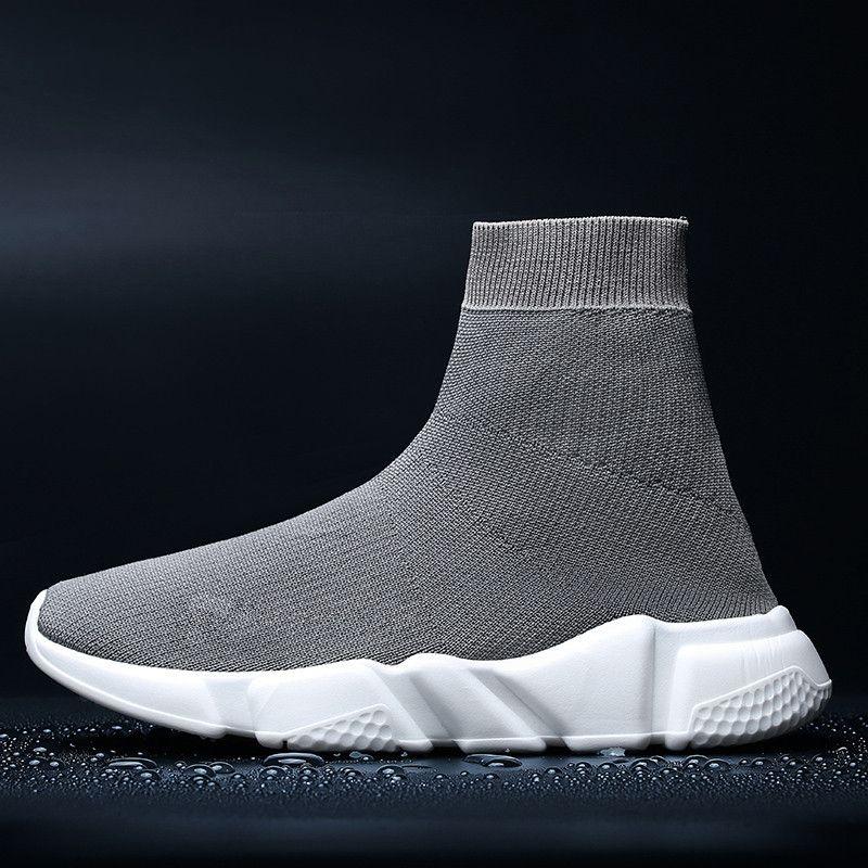 Çiftler Streç Çorap Yüksek Ayakkabı Yumuşak Alt Kanvas Ayakkabılar Bahar Ve Yaz Bir Pedal Tembel Ayakkabı Boyutu 35-47