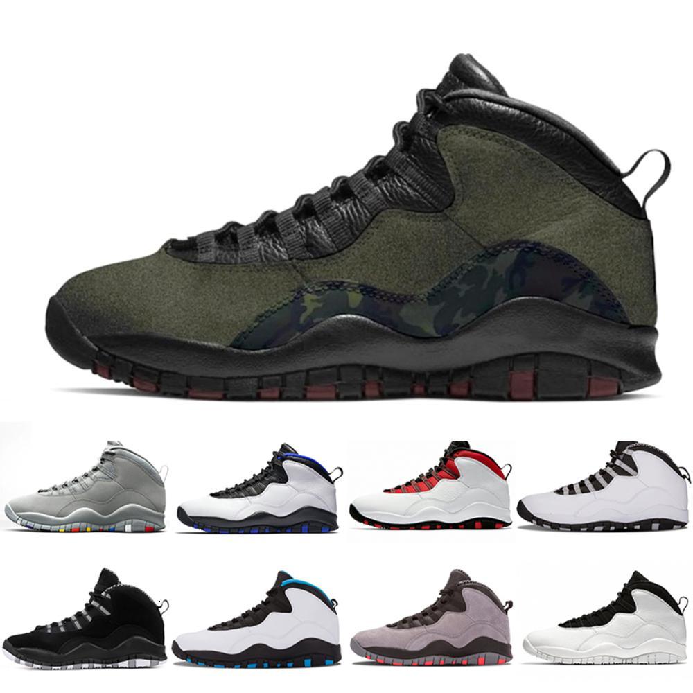 Woodland New Wüste Camo Dunkelrauchgrau Orlando 10s Herren-Basketball-Schuhe Cement 10 Westbrook Im Zurück Chicago Men Sport Sneakers