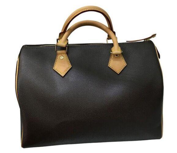 mujeres de la moda de las mujeres clásicas de alta calidad SPEEDY del bolso del hombro almohada bolso del cuero genuino de bienes de lujo oxidante asas
