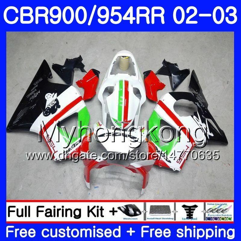 Black Body For HONDA CBR900RR CBR 954 RR CBR900 RR CBR954 RR 280HM.16 CBR 900RR CBR954RR 02 03 CBR 954RR 2002 2003 Red green Fairings kit