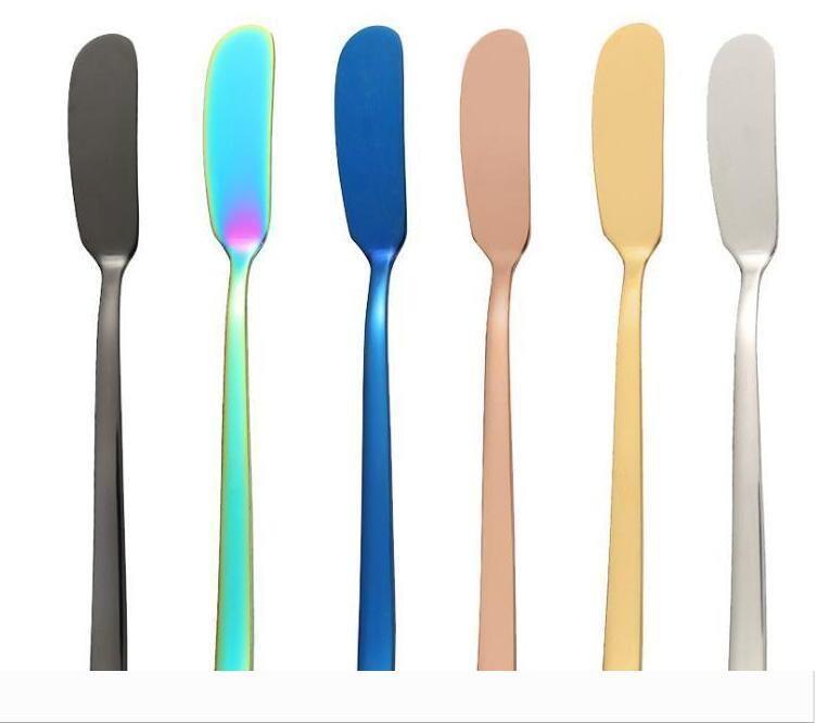 Creativity 304 Stainless Steel Butter Knife Western Food Cheese Bread Jam Spreader Bread knife Tableware Knives 777