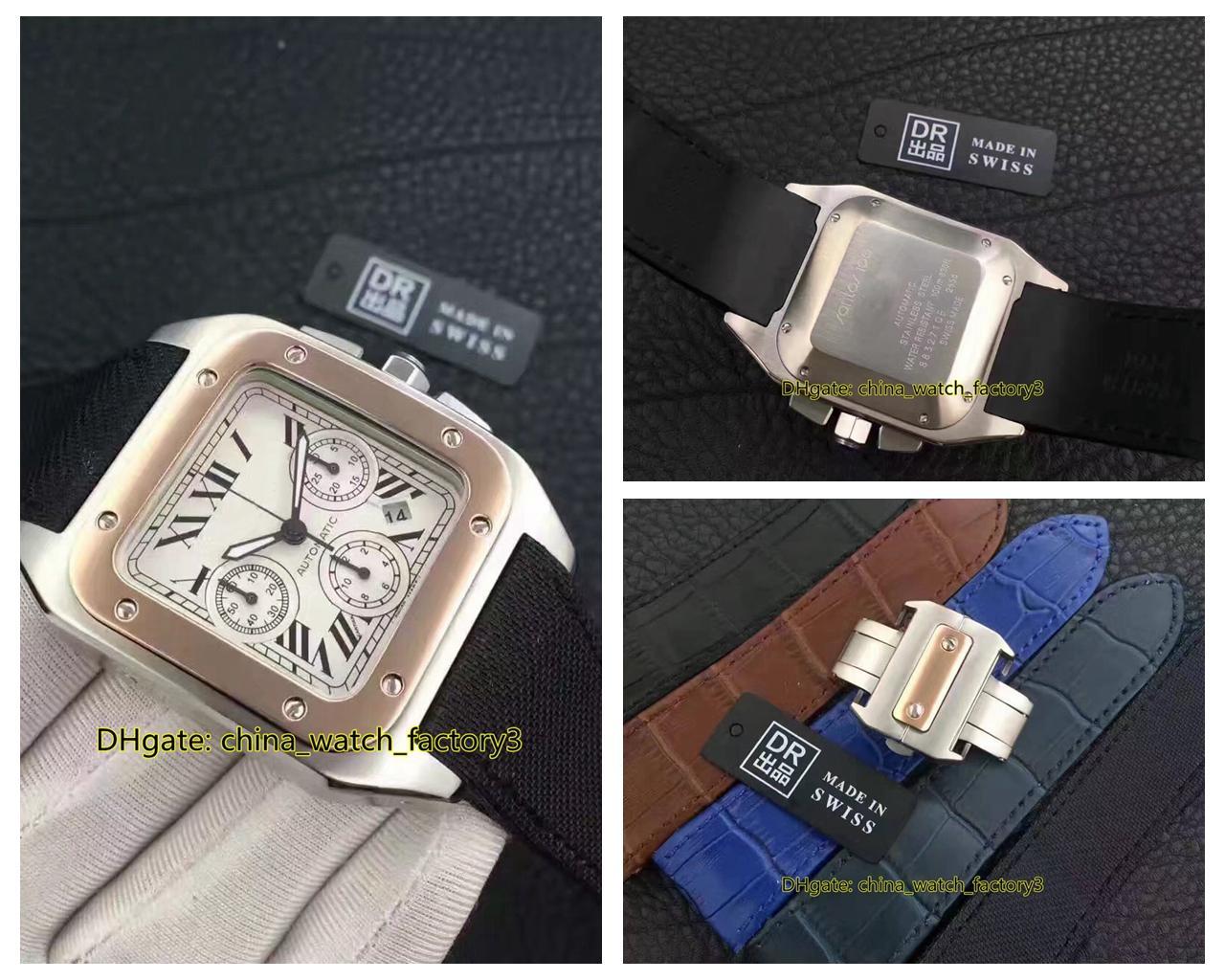 5 Стиль Best Quality DR Maker 38мм SAN100 W20090X8 Хронограф Платина Азии EAT 7750 Механизм Автоматический Мужские часы Часы