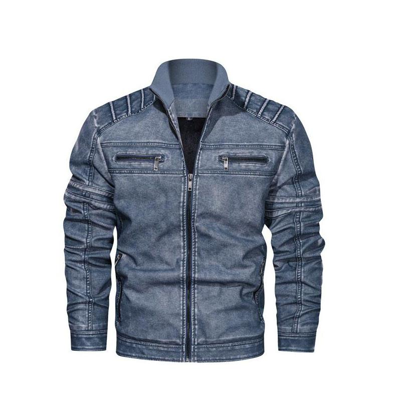 Mens Designer Leather Jackets Fashion PU Vintage Luxury Jacket 2019 New Arrival Streetwear Leather Jacket with Zipper Tops Mens Clothing