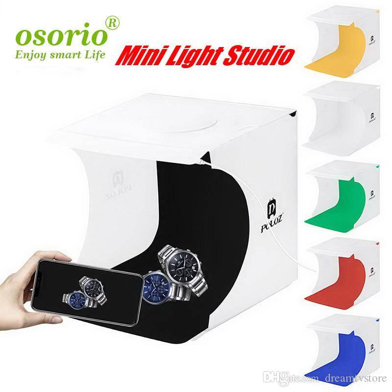 2020 Mini Folding Lightbox Photographie Photo Studio Softbox LED Panel Soft Light Box photo arrière-plan Kit boîte de lumière pour appareil photo reflex numérique