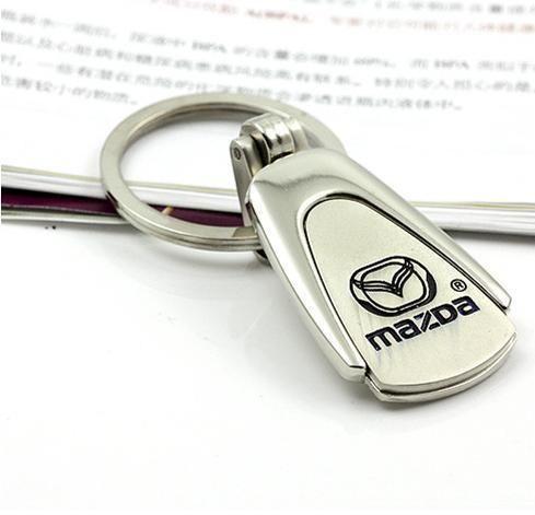 venda quente Car Metal Prata Logo Keychain para Mazda 3 6 CX5 CX7 323 626 frete grátis
