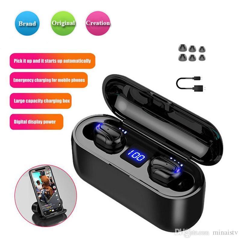 1 PCS Q32-1 TWS cuffia 5.0 stereo senza fili delle cuffie Bluetooth auricolare impermeabile auricolare Bluetooth doppio microfono per il cellulare