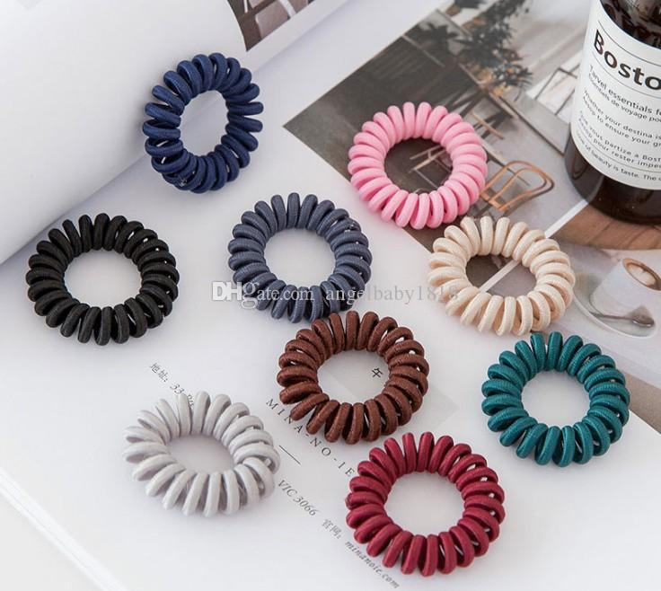 4 Pack Black Telephone Cord Wire Hairband UK Seller