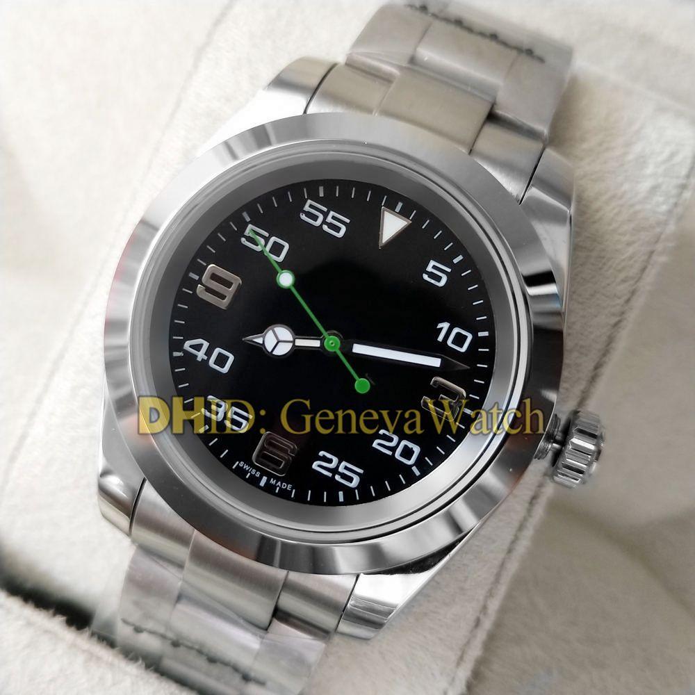 Luxo Mens Designer Relógios Air King 116900 Mecânica Movimento Automatic Men Watch aço inoxidável 316L Caso Esporte Relógios de pulso à prova d'água