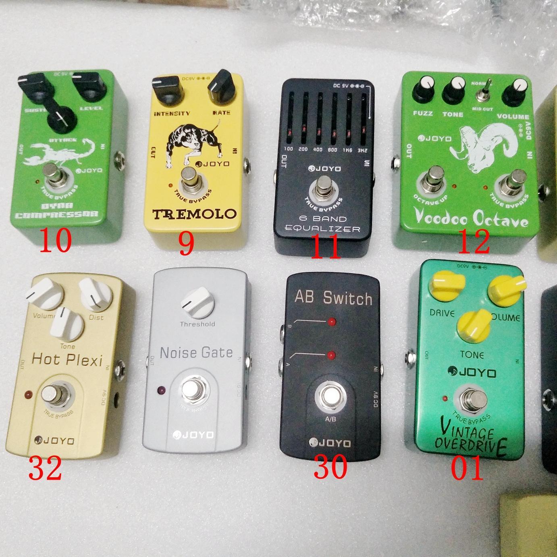 4 модели педали Классический эффект гитары Выберите мульти-эффекты Педали Distortion Overdrive Задержка Эхо Reverb Chorus Flanger Wah Phase Volume