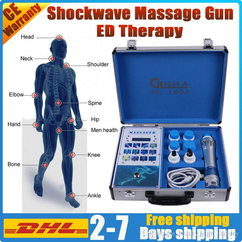 Matériel d'ondes de choc de thérapie physique avec la douleur musculaire thérapie ed relief choc d'ondes de choc de faible intensité onde gainswave machine de pistolet de massage