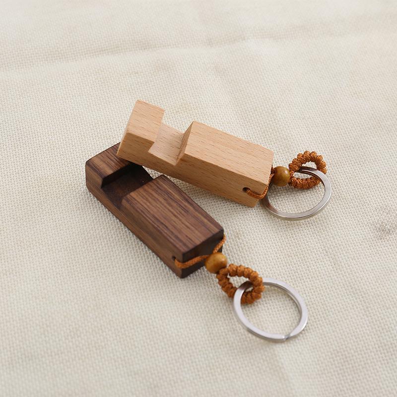 Holz Schlüsselanhänger Telefon-Halter Rechteck aus Holz Schlüsselanhänger Handy-Standfuß beste Geschenk Schlüsselanhänger-Partei-Bevorzugung 2 Arten DHL WX9-1859