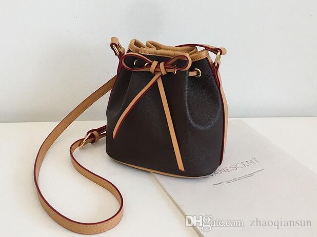Hochwertiges Mini-echtes Leder NANO NOE neue Frauen-Modenschauen Schultertaschen Totes Handtasche Top-Griffe Messenger Bags M41346