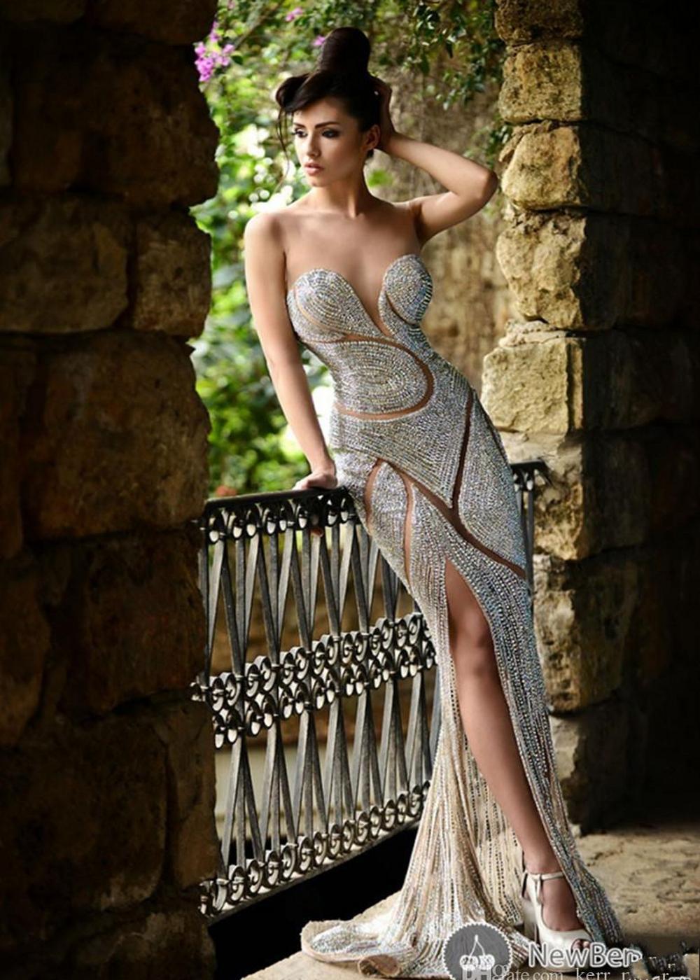 Vestidos de noche con cuentas de joyería de lujo diamantes de imitación de joyas de joya corsé sirena longitud de piso rojo alfombra rojo celebridad vestidos de fiesta