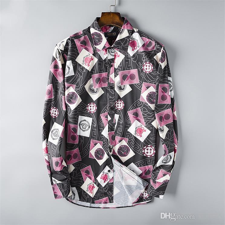 Atacado 2019 nova marca casuais Primavera Outono de manga longa Camisetas masculinas de algodão casuais camisas de vestido dos homens de xadrez de alta qualidade grande tamanho S48