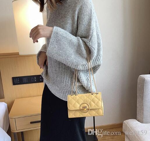 Casual Plaid Mulheres Saco de mão Designer Cadeia Diamante Padrão Feminino Shoulder Messenger Bag Grande Capacidade Office Lady Travel Bag Y26 106