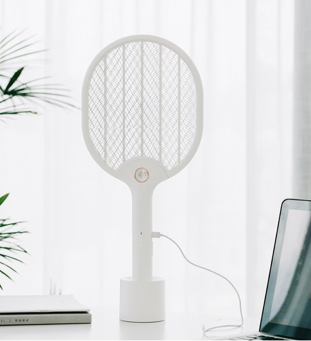 XIAOMI Youpin الكهربائية البعوض منشة قابلة للشحن LED الكهربائية الحشرات علة يطير البعوض القاتل Dispeller مضرب 3-طبقة نت