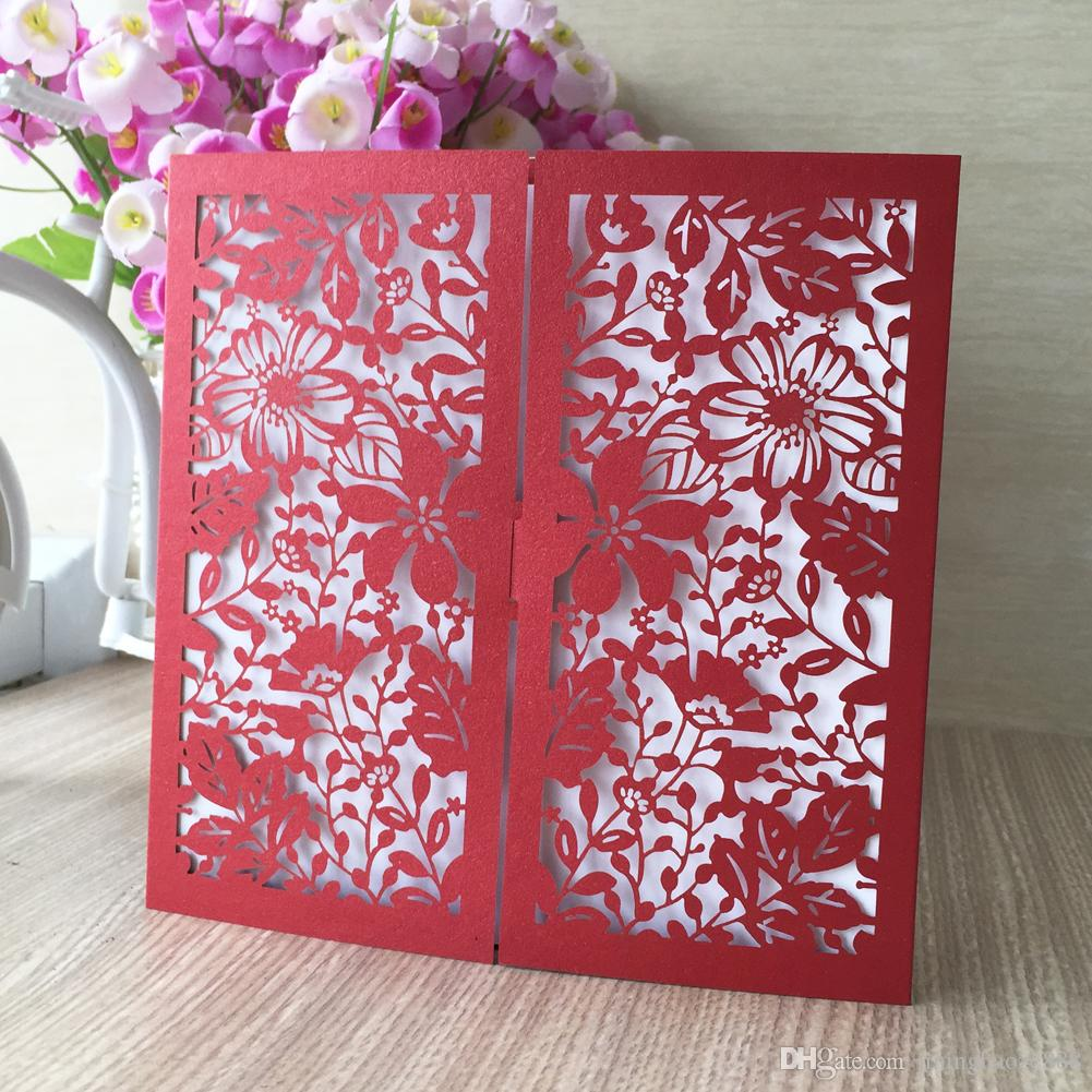 25Pcs /lot Wedding Invitation Card Beautiful Garden Flower Design Envelop Supply To Grand Events Festival Invitations Christmas Blessing