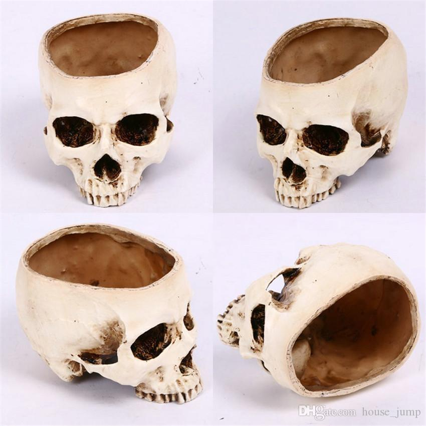 Posacenere KKY-Enter Pirate Skeleton Style Creative Design Resina Materiale Cranio Testa Retro Arredamento Dare ai Fumatori Il miglior Regalo