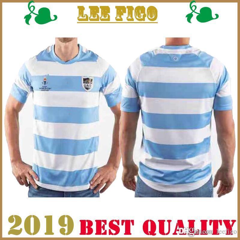 COPA MUNDIAL 2019 INICIO nacional de Argentina JERSEY RUGBY Camisetas de rugby del equipo nacional argentino Tamaño: S-XXXL