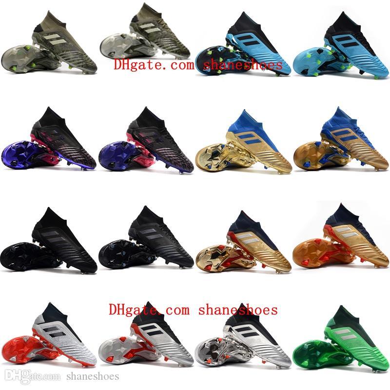 2020 new arrival mens soccer shoes Predator 19.1 FG high ankle soccer cleats Predator 19 accelerator tango football boots Tacos de futbol