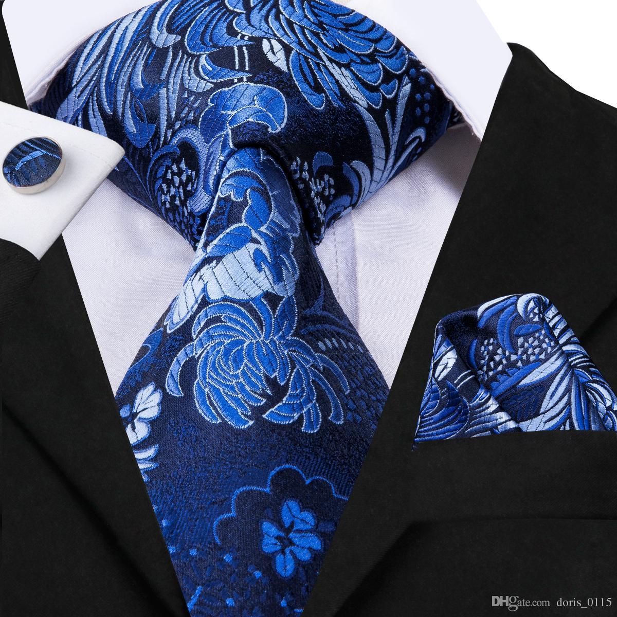 Schwarz-Blumen-Muster-M/änner Krawatten Business-Krawatte