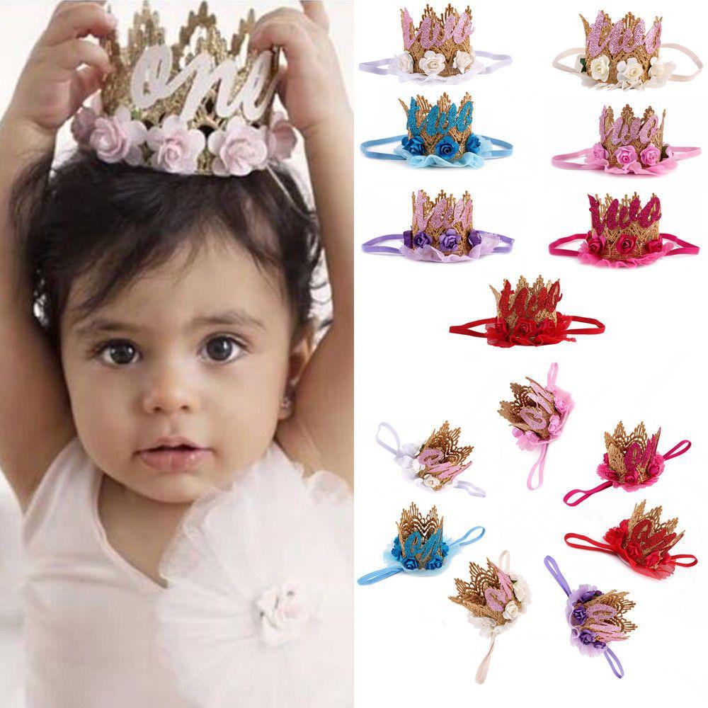 UK Baby Girls Princess Birthday Party Crown Headband Hair Clip Band Decor Lots