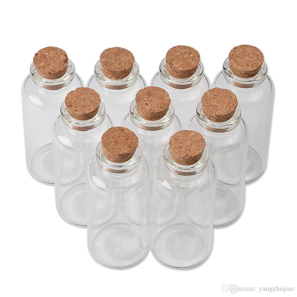 25 ml 30 ml minuscule mini bouteilles de tubes à essai avec des pots de bouchons de liège pour la décoration de cadeaux de mariage mini pots de récipients à épices 50pcs