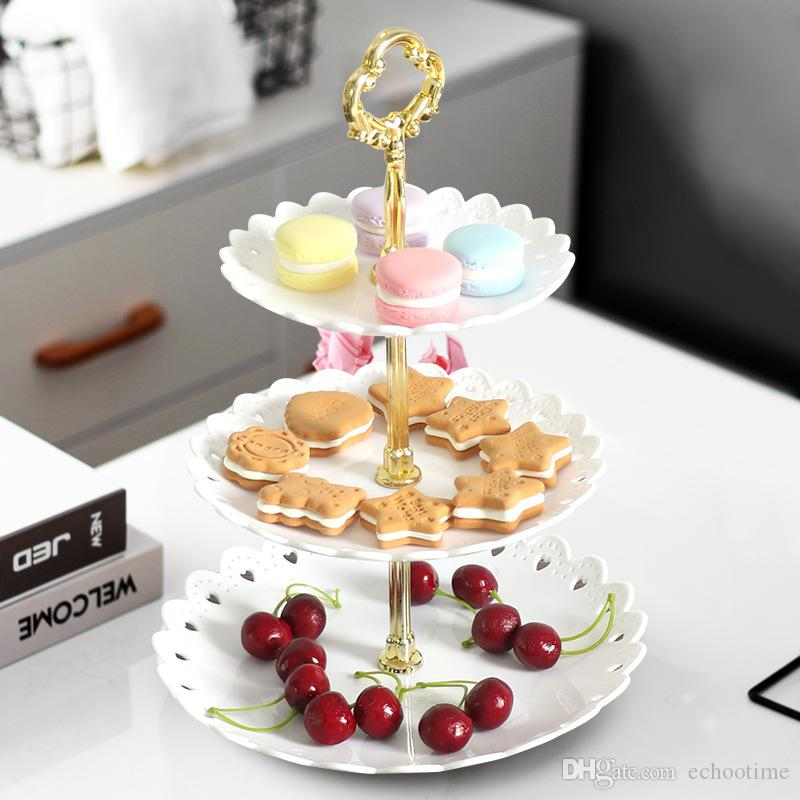 Groovy 2020 Echootime 3 Layers Cake Stand Wedding Cake Plate Stand Birthday Cards Printable Trancafe Filternl