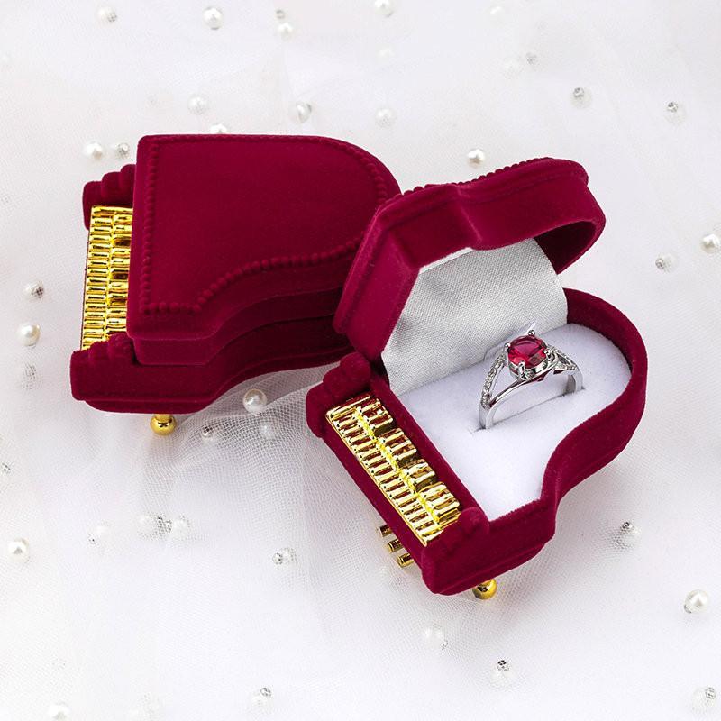 unica Jewelry Box pianoforte Velvet Wedding Ring Box Gift Box Holder Jewellry Wrap per la visualizzazione della collana del braccialetto orecchini