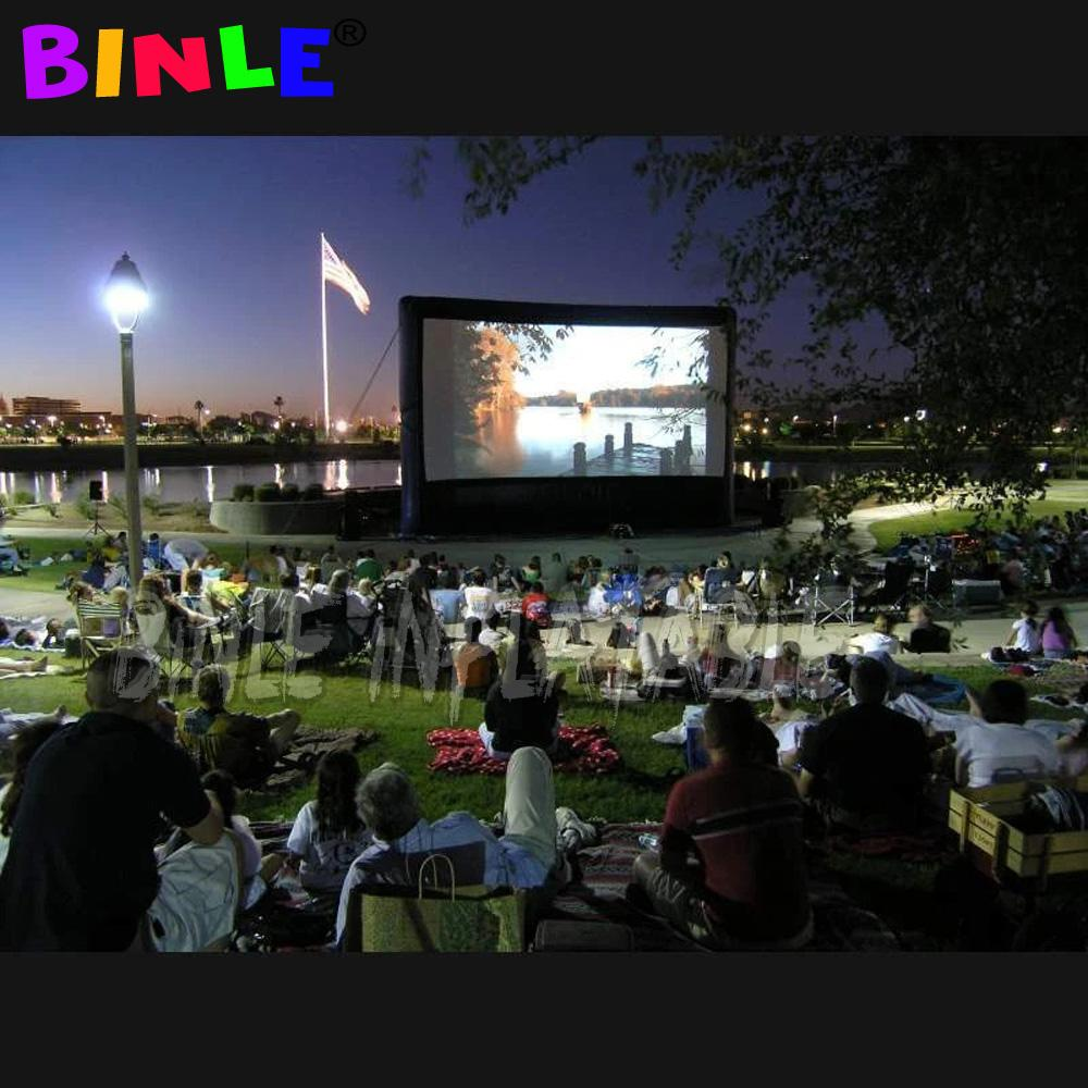 China hot sale large Inflatable Movie Screen with stand Cinema Inflatable Projector Screen outdoor movie theater for sale