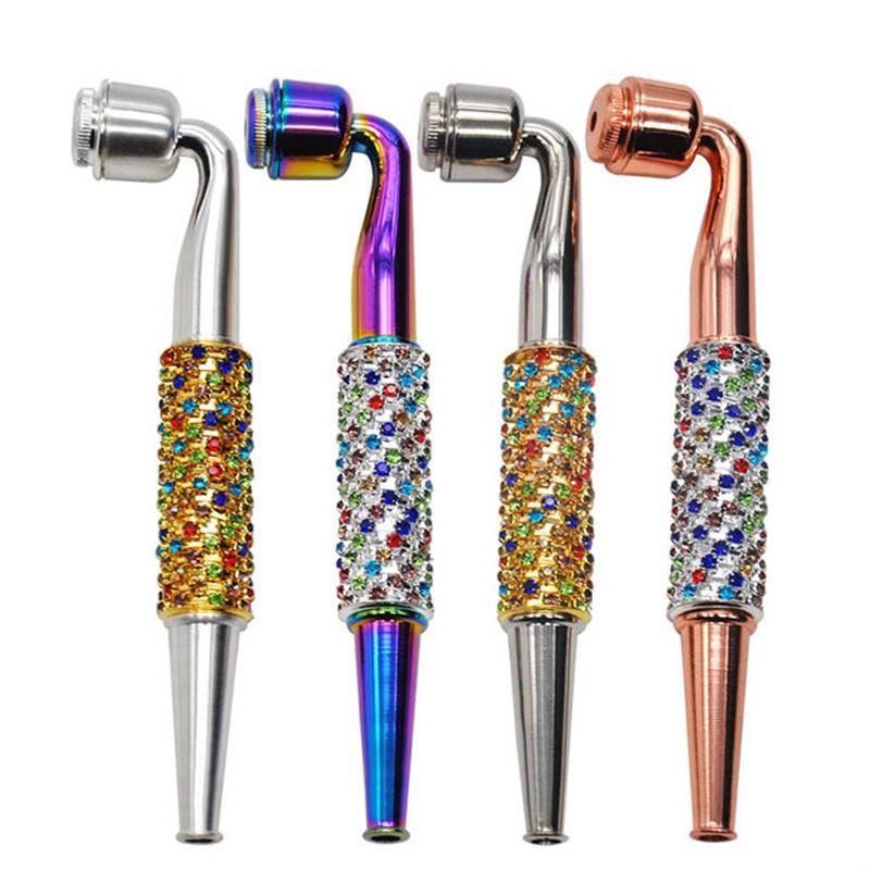 Cachimbos Tabaco Herb Filtro de tubos coloridos Pipes esmalte recorte de metal para a seco Herb vaporizador Cachimbo