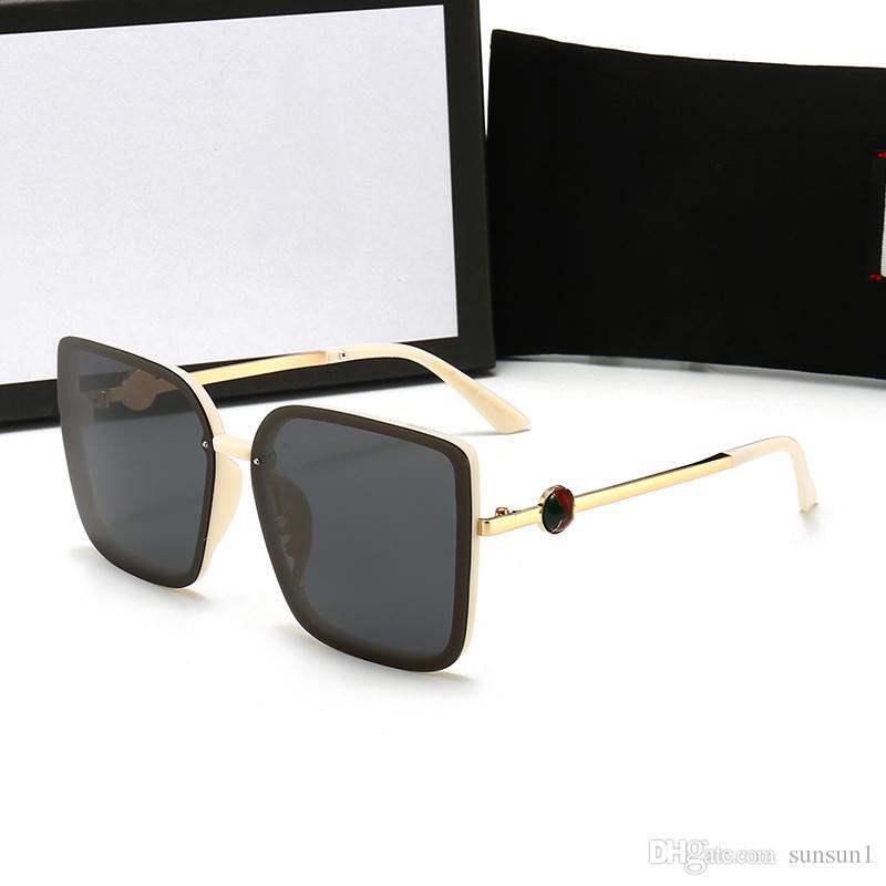 Haute qualité cadre en métal lentilles en verre Dégradé Lunettes de soleil Femmes Hommes Brand Design conducteur Lunettes pilote Lunettes de soleil avec des cas bruns su