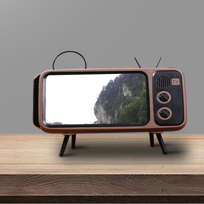 Portable universale Retro TV Desktop porta cellulare stand staffa di montaggio del supporto del telefono Retro TV Aspetto uso universale facile
