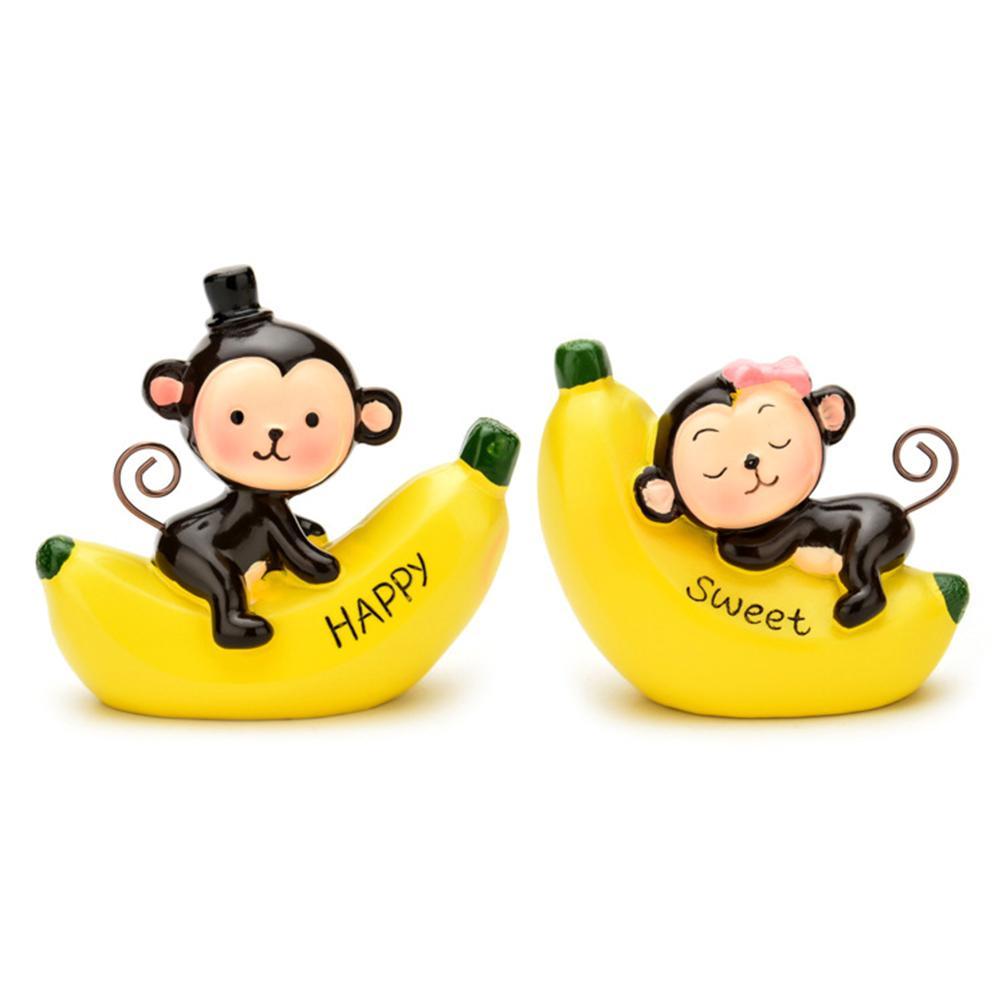 Escritório Dia resina aniversário presente para casa de carro ornamento Craft pingente dos Namorados Painel Decoração bonito do macaco Amor Interior
