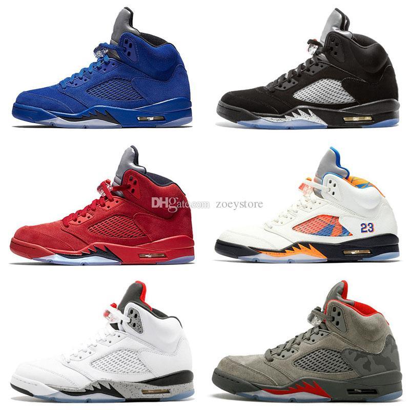 Pas cher 5 5s Chaussures De Plein Air Hommes Femmes Homme Rouge En Daim Ailes Og Bcfc Vol Orande Olympic Grape Oregon Ducks Rétro Chaussures