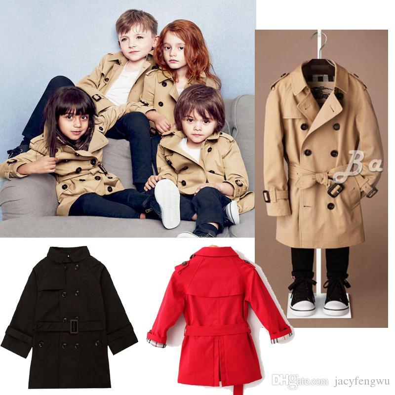 Bambini Ragazzi cappotto della molla autunno boutique NEONATA outwear abiti abbigliamento bambini inverno bambini Cardigan tinche cappotti 1-9 anni D084