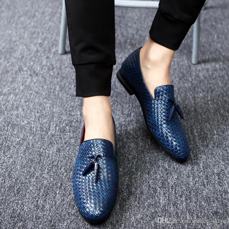 uomo scarpe mocassini nappa scarpe da sposa per gli uomini 2019 Mens coiffeur partito grandi dimensioni moda chaussure homme erkek AYAKKABI Scarpe Uomo
