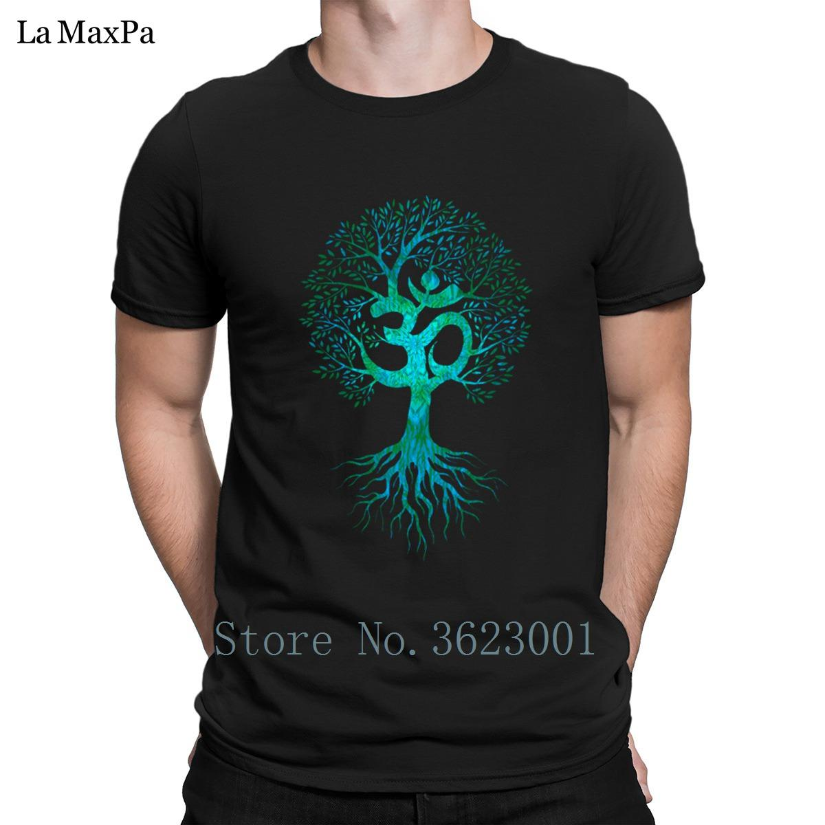 Criatura fresco camiseta Costume Om Tree Of Men Vida T-shirt Melhor inteligente Homens T-shirt Tamanho S-3xl camiseta Hip Hop