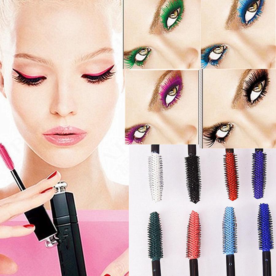 La fibra 3D colorido rimel a prueba de agua de fibra larga duración Lash Máscaras extensión de la pestaña Herramientas de maquillaje 8styles RRA1322