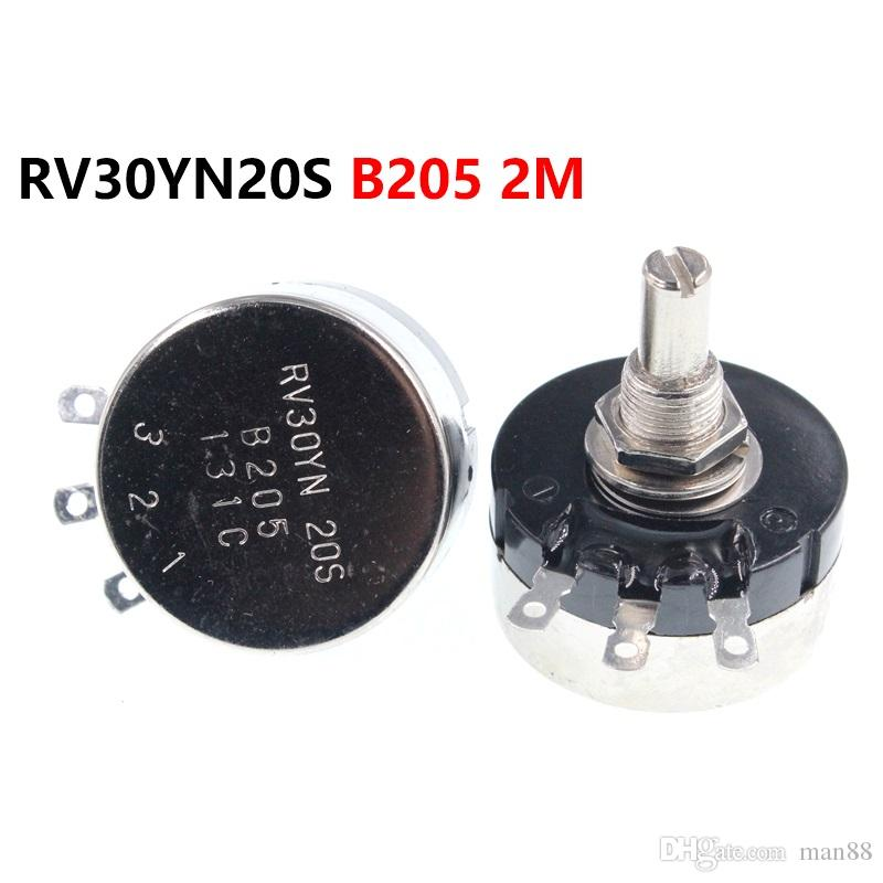 single turn carbon film potentiometer RV30YN20S B205 2M 3W adjustable resistor