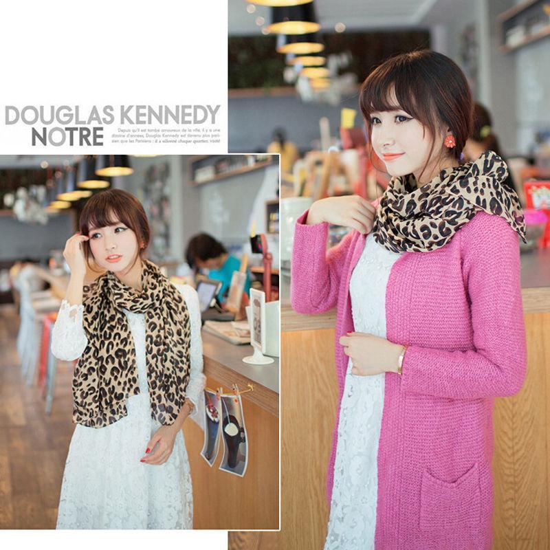Großhandel-Frühling Winter reizvoller heißen Verkauf Art und Weise lange Leopard druckt Schal Dame Chiffon Frauen Silk Schal-Verpackung für die Frau