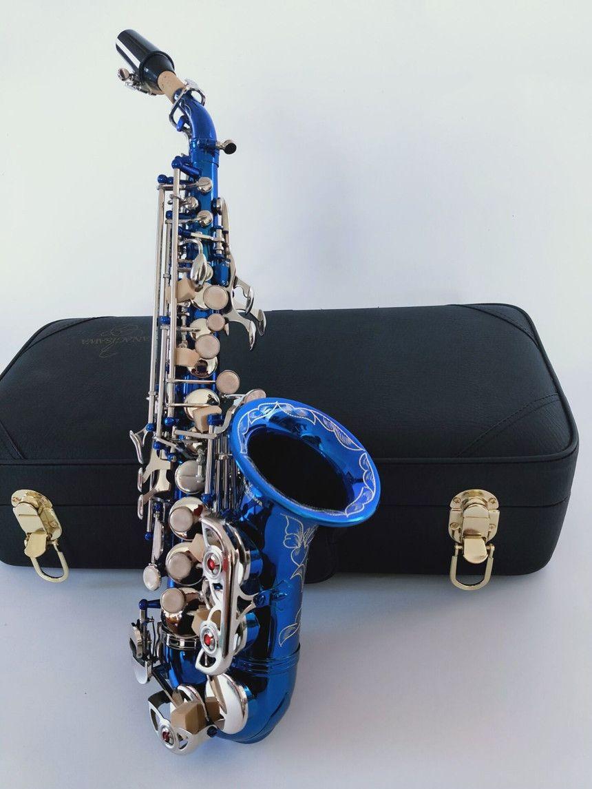 2020 Nuevo saxofón soprano Yanagisawa S-991 instrumentos musicales de cielo azul plata tecla B saxofón plana envío libre