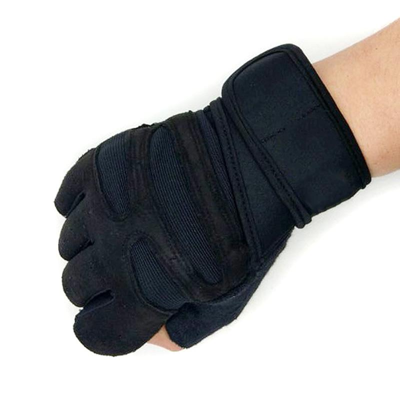 Finger Gym Fitness Gloves with Wrist Wrap Support for Men Women Crossfit Workout Power Weight Lifting Equipment